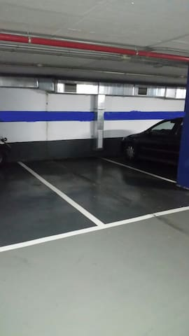 Parking space for a car