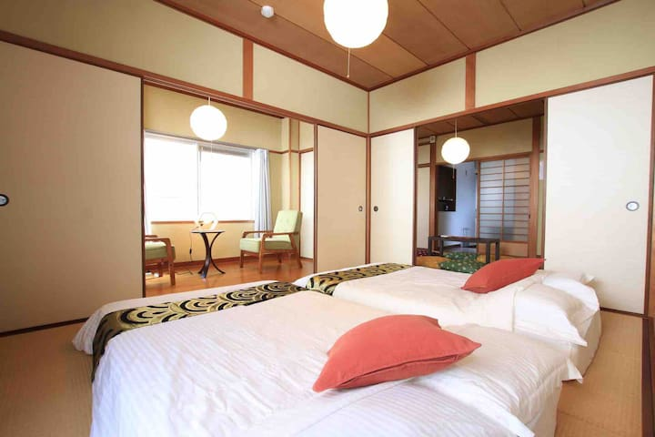 Traditional Japanese Room☆8ppl stay☆very quiet apt