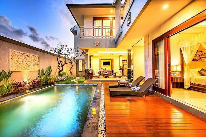 Jimbaran Garden 2BR pool villa(near two beach)