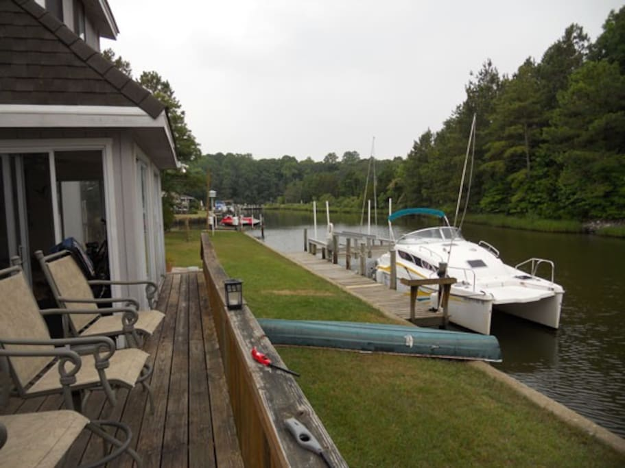 Canal View from rear deck
