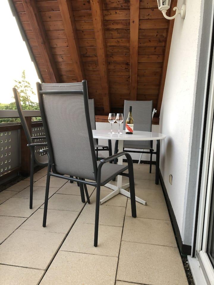 Ferienhaus-Irene 2  - Balkon mit Weinbergssicht