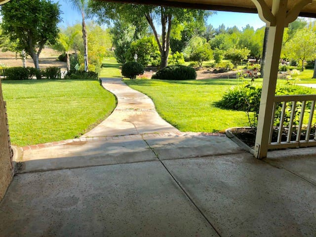 Property View - Walkway to Pool & Spa