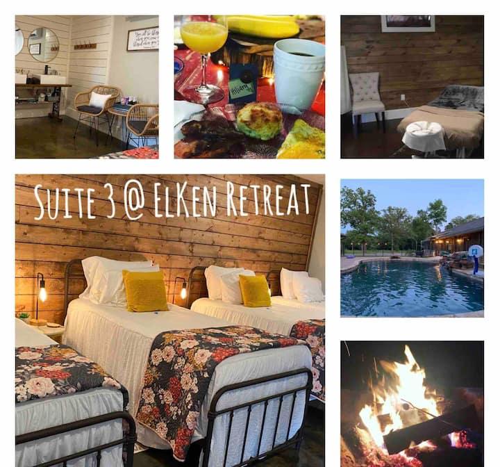 ElKen Retreat B&BPrivate Suite3 $Massage Breakfast