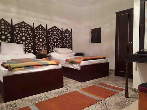 Twin Room at Arabian Nights Pyramids Guest House