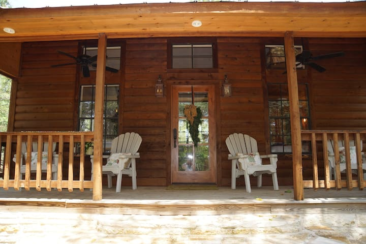 With a spacious front porch