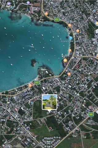 Emplacement Coocoonut Villa - vue satellite