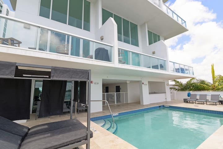 Sextant | 2-Story Waterfront Condo #3 | Heated Pool | 10 mins to Miami Beach
