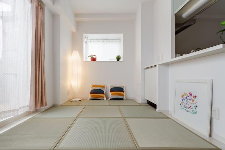 0min Amemura 3min Shinsaibashi sta  luxury suite26 - Osaka - Apartment