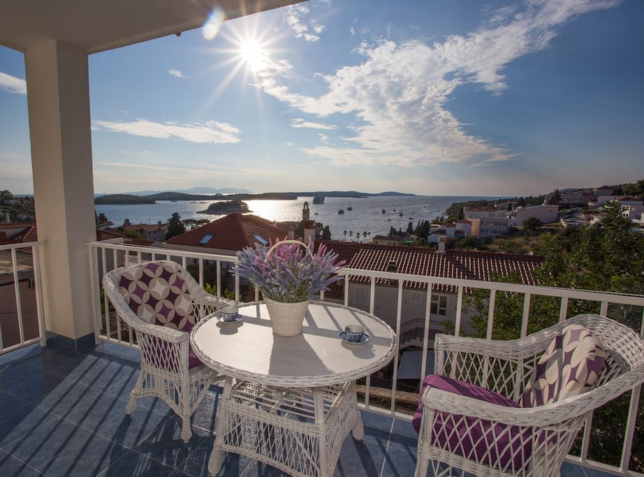 Enjoy on our balcony with sea view!
