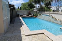 Large pool for relaxing moments