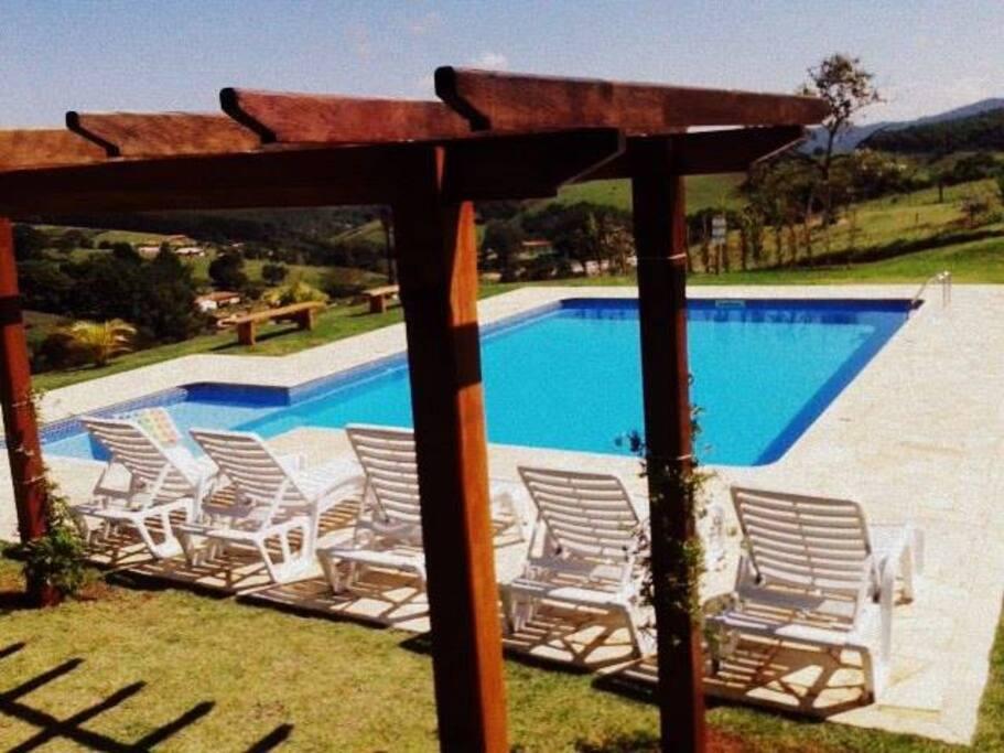 Piscina temperada - Solar heated pool