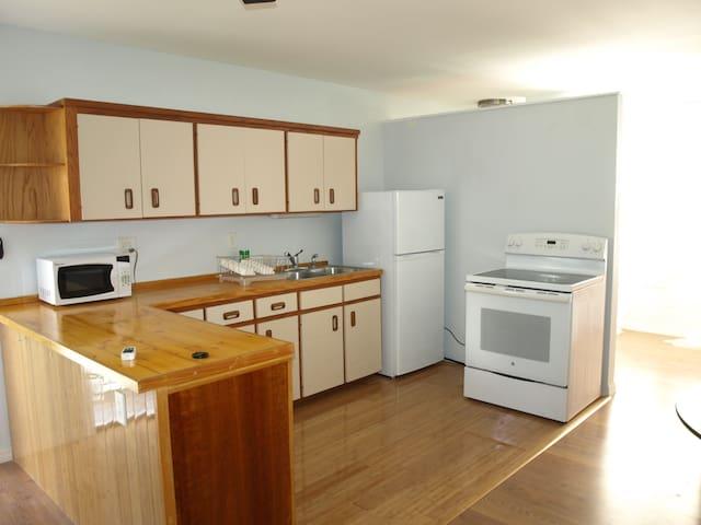 convenient full kitchen