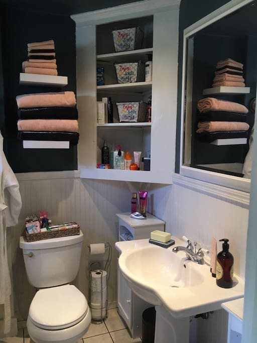 The bathroom is fully equipped with everything you could possibly need!