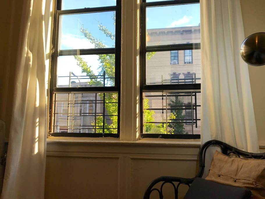 View from the room, it is a south facing apartment, so there is a lot of light that shines through, all day.