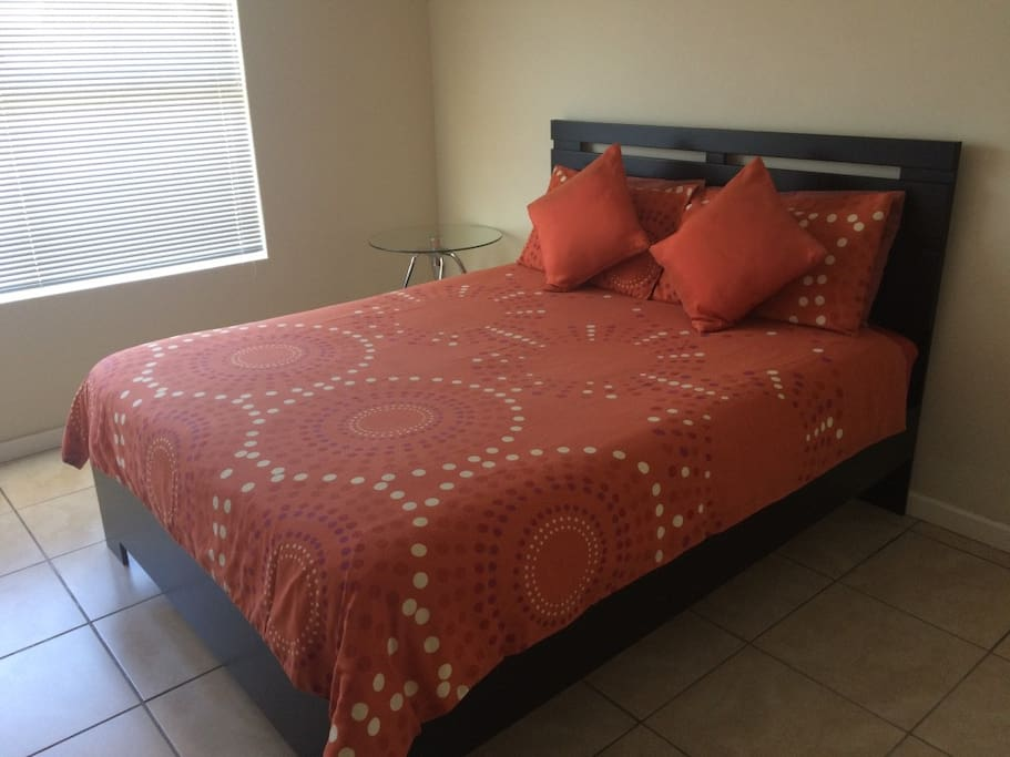 Bedding is provided in each apartment