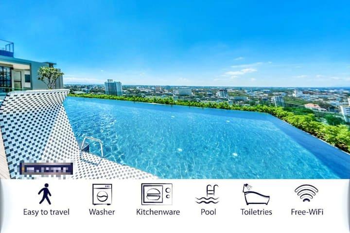 月兔宫—Astra Condo位于长康路最繁华地段,顶层观景免费泳池,左邻香格里拉,右邻3D博物馆。