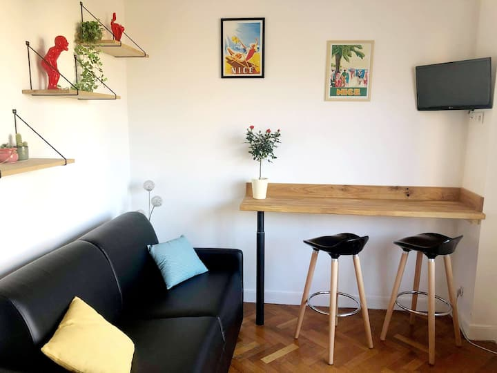 Charmant studio Nice/Alphonse Karr