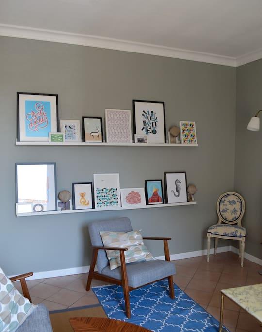 Living Room Art Wall!