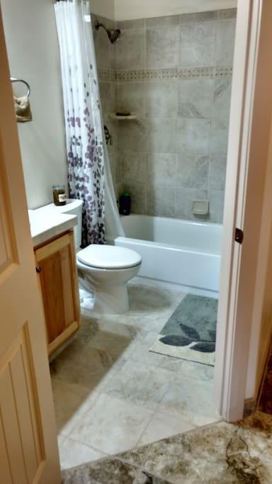 Bathroom, Sink, & Shower