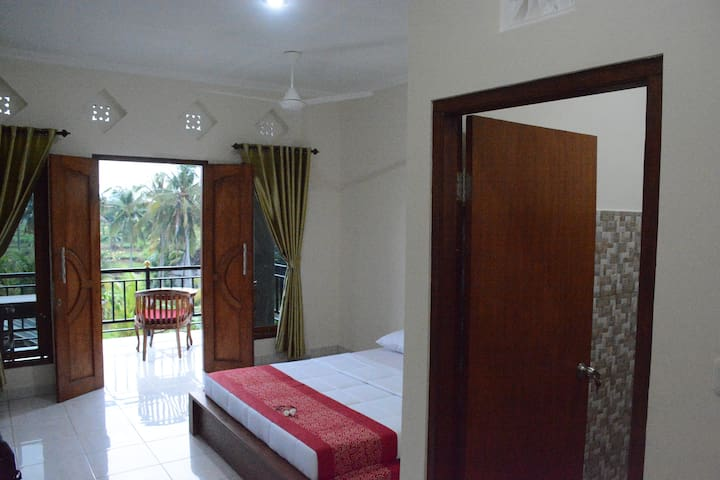 Ancut Sari Guest House among rice fields