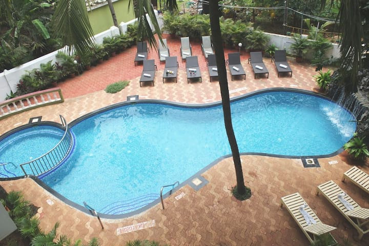 Deluxe Room with Pool 50 Mtrs from Candolim Beach