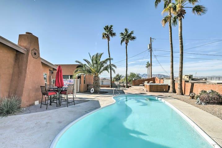 Luxe Lake Havasu Home w/ Fire Pit, Pool & Hot Tub!