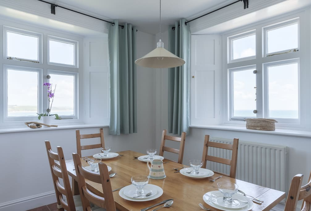Lower ground floor: Dining room with sea views