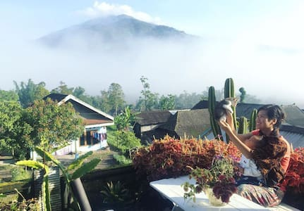 Twin Volcanoes Bnb || Merbabu room with balcony