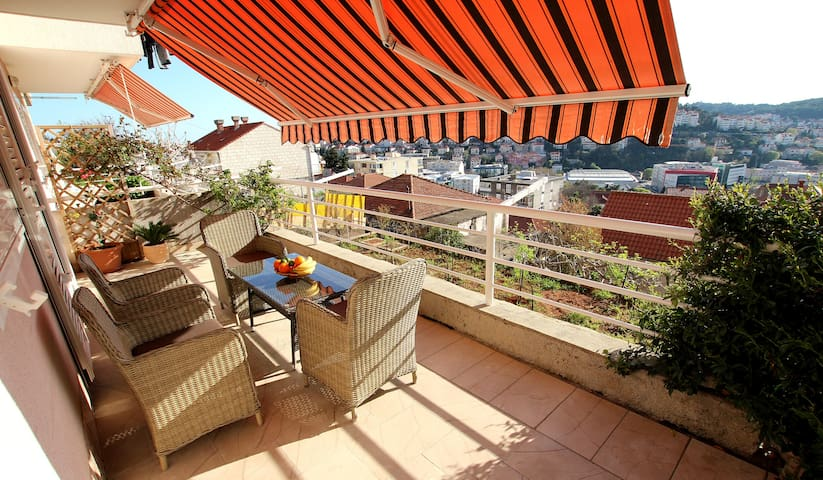 Apartment with a beautiful terrace and view