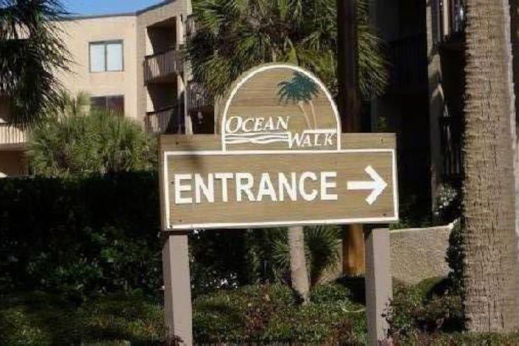 Entrance to Ocean Walk
