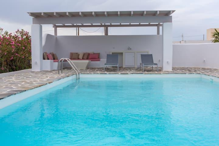 Naxos plaka luxury sea front villa /private pool