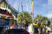 Amusements and shopping by the ocean. Mall shopping is just minutes away.