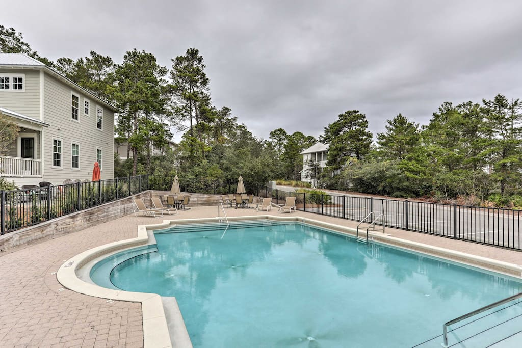 You'll enjoy all the comforts of home, plus access to a community pool just a short walk or bike ride away.