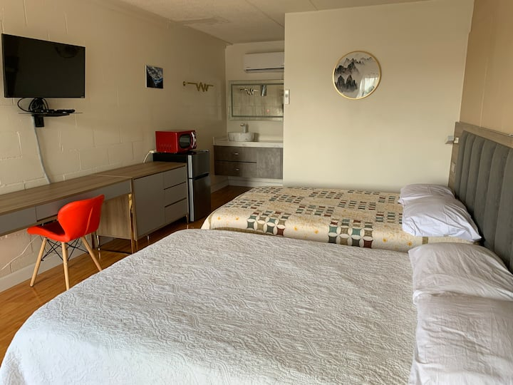 Recently renovated motel rooms