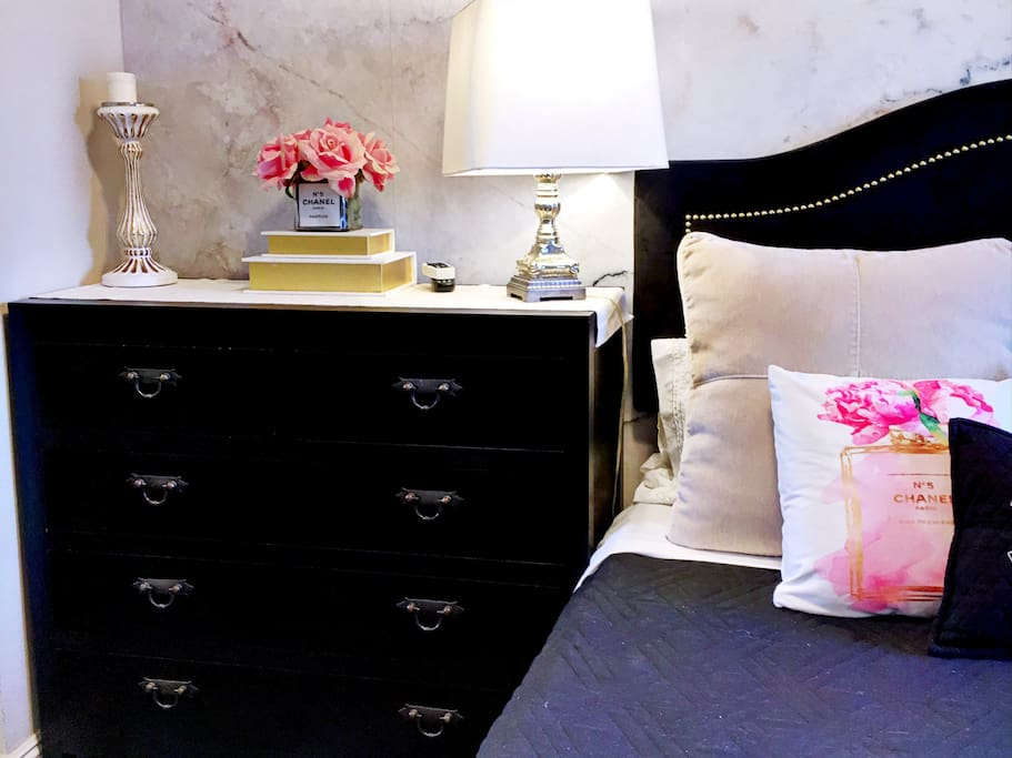 A nice size dresser to accommodate you and your company for short or longer stay.