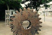 Municipal sculpture in Loanhead