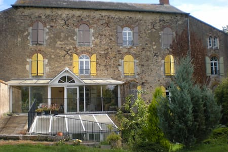 B&B-2 personnes lit double 1er étage Douche - Saint-Denis-d'Orques - Bed & Breakfast