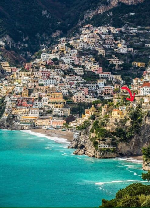Our position in Positano.