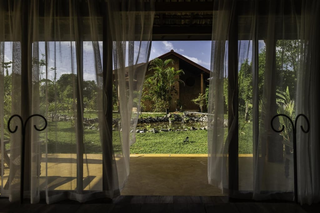 View from inside bungalow Haliconia