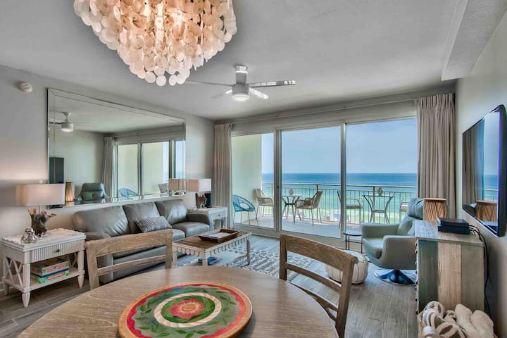 Spectacular ocean views in a newly renovated luxury beach condo.