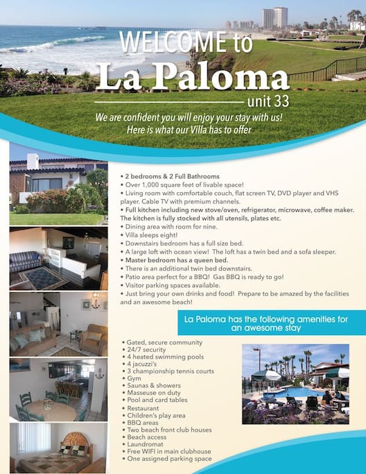 Welcome to La Paloma!