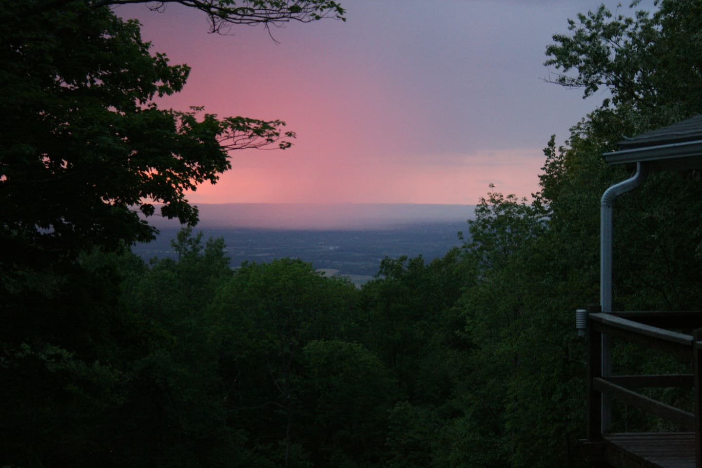 Pink Sunset, view from the deck