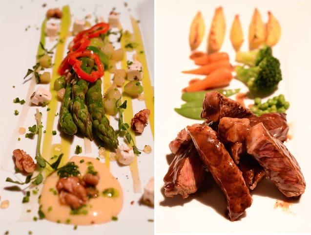Mediterranean cuisine at Chateau du Puits es Pratx.