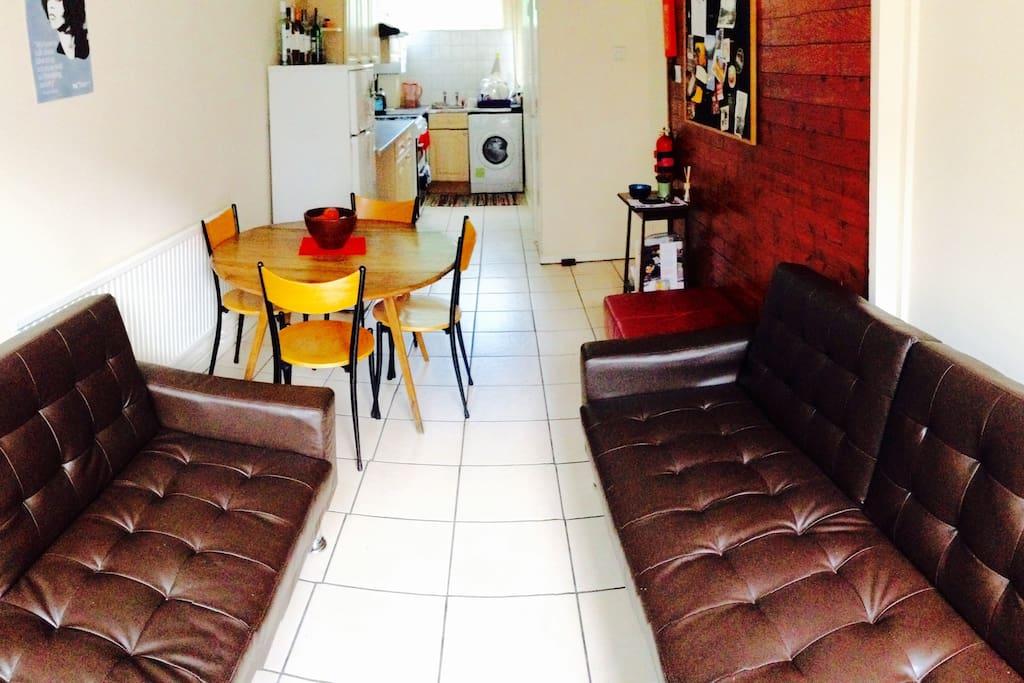 Living Room & Open Kitchen