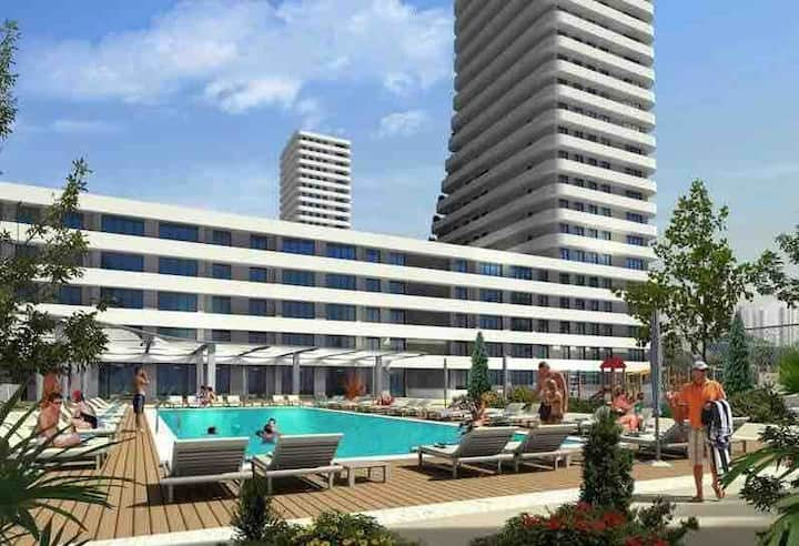 Residence,fitness,pool,havuz роскошное жилье.