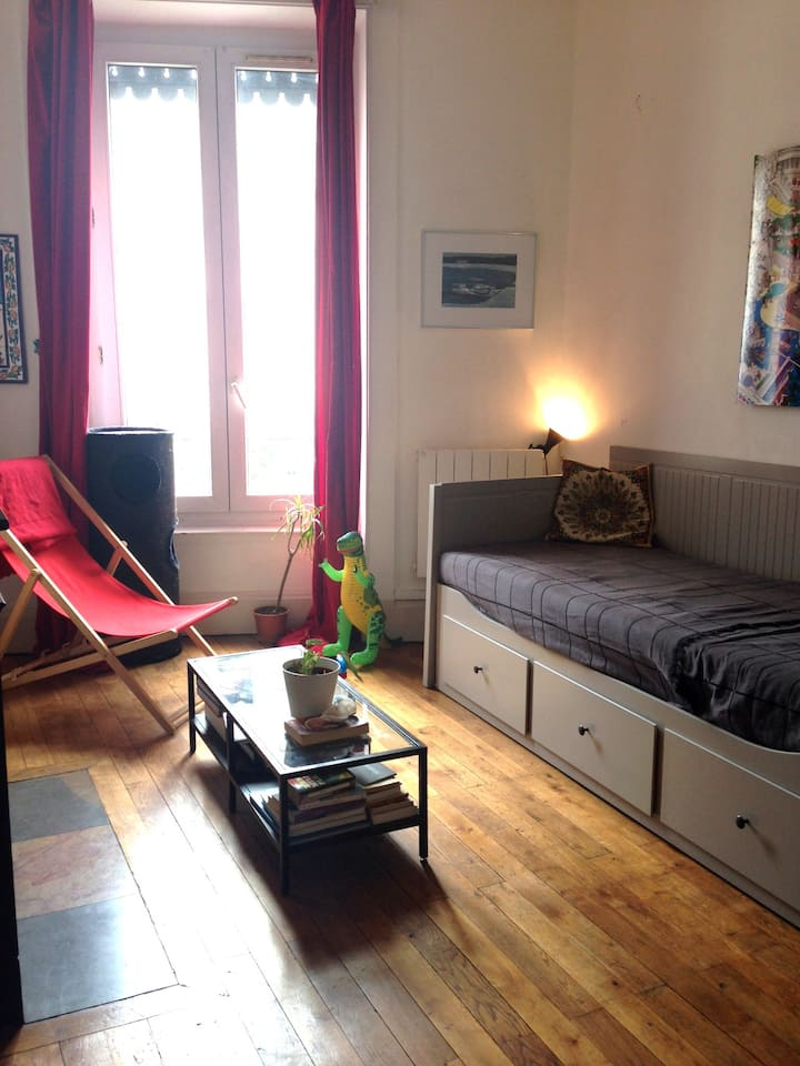 Lyon, Bright Studio, 24 m2, station Republique