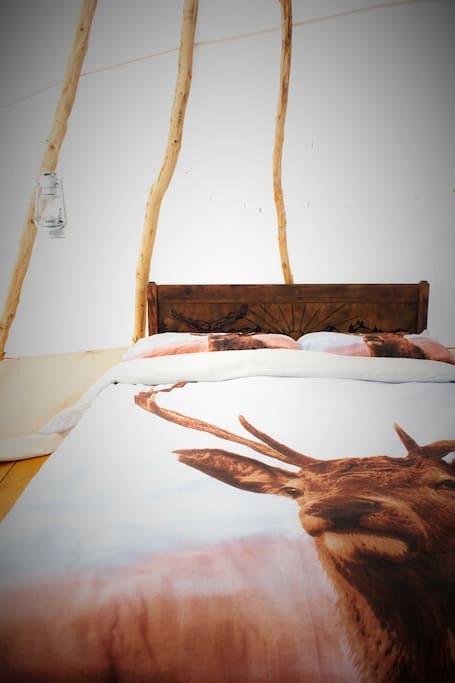 ...dream about the open prairies in a comfy double bed...