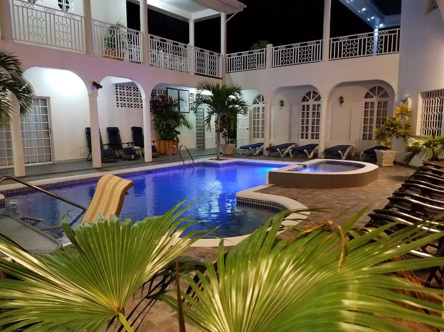 Day or night enjoy our pool!