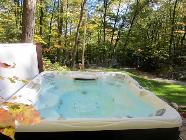 Relaxing Log Home with Outdoor Hottub - Chelsea - Hus