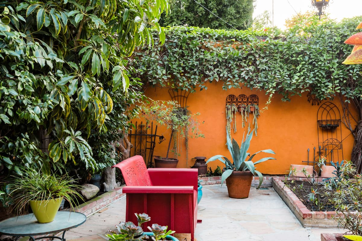 Relax in Your Private Patio at Charming Garden Casita